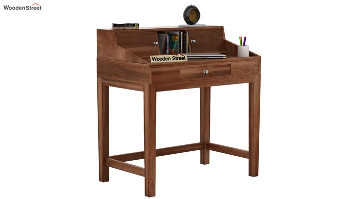 Rizzel Study Table With Shelf (Teak Finish)-1