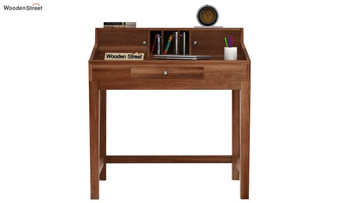 Rizzel Study Table With Shelf (Teak Finish)-2