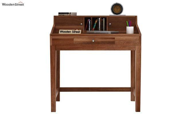 Rizzel Study Table With Shelf (Teak Finish)-2