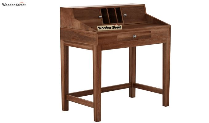 Rizzel Study Table With Shelf (Teak Finish)-3