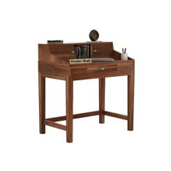 Rizzel Study Table With Shelf (Teak Finish)