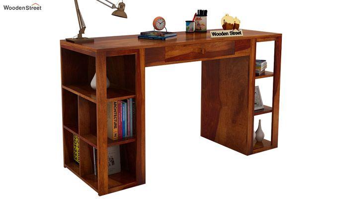 Samaya Study Table (Honey Finish)-1