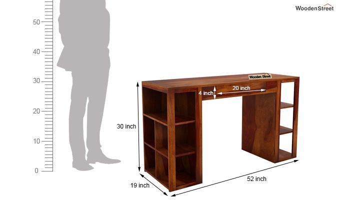Samaya Study Table (Honey Finish)-8