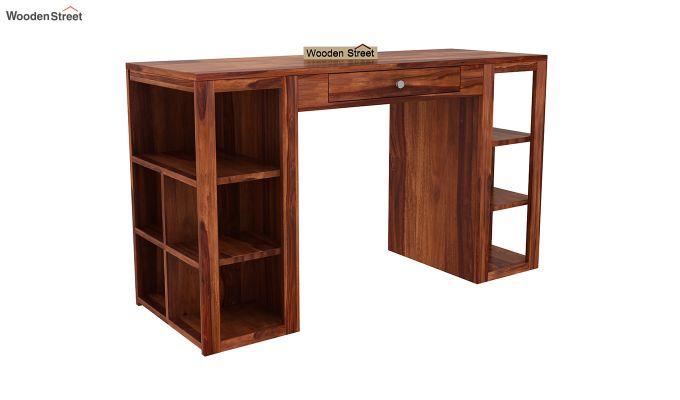 Samaya Study Table (Honey Finish)-2