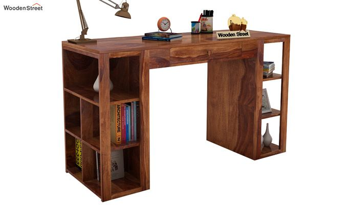 Samaya Study Table (Teak Finish)-1