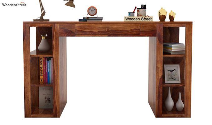 Samaya Study Table (Teak Finish)-2