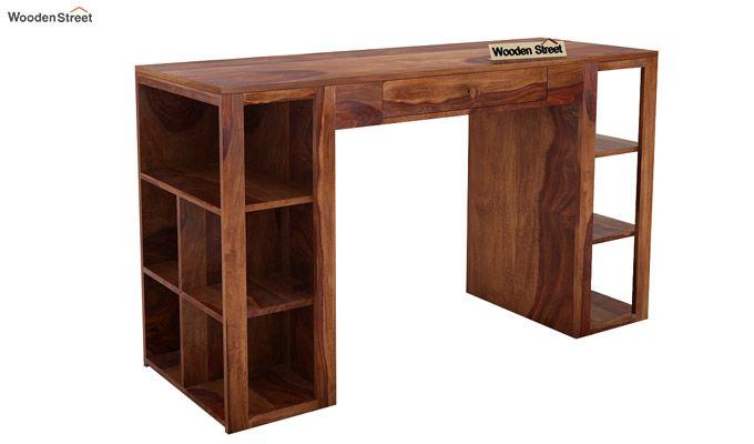 Samaya Study Table (Teak Finish)-3