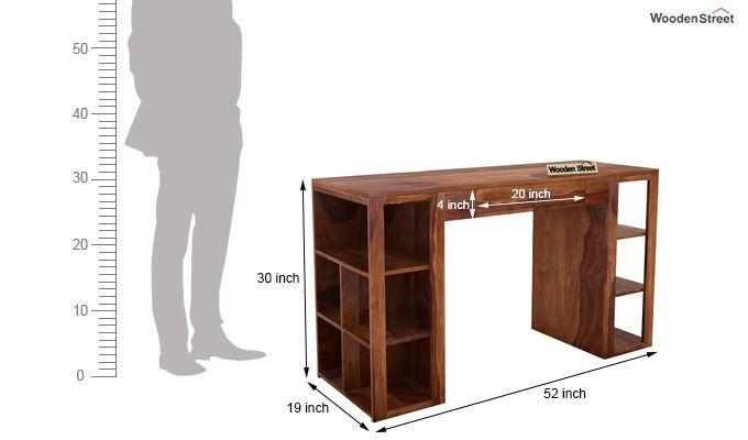 Samaya Study Table (Teak Finish)-8
