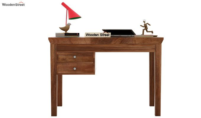 Sandor Study Table With Drawer (Teak Finish)-2