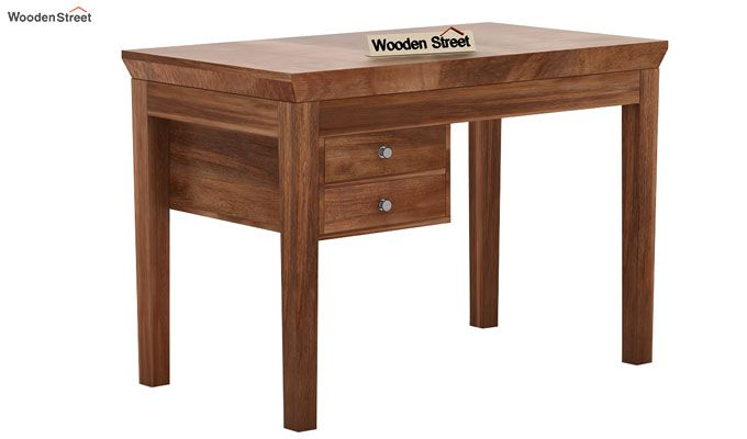 Sandor Study Table With Drawer (Teak Finish)-3
