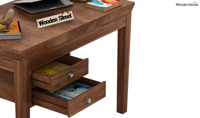 Sandor Study Table With Drawer (Teak Finish)-4