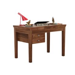 Sandor Study Table With Drawer (Teak Finish)