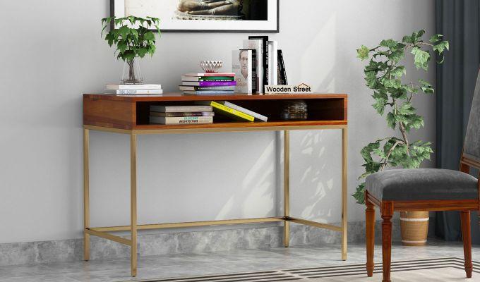 Sapphire Study Table (Honey Finish)-1
