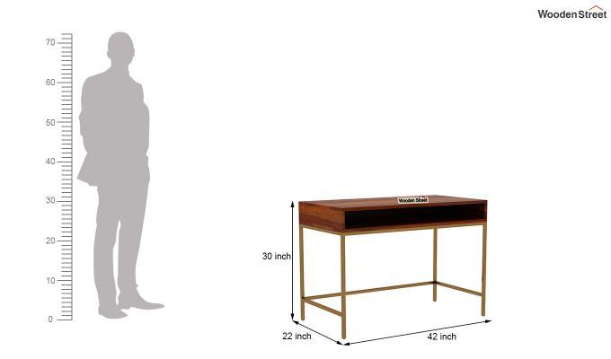 Sapphire Study Table (Honey Finish)-4