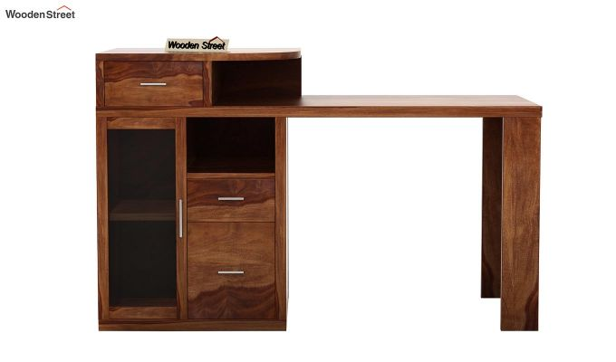 Sarah Study Desk With Storage (Teak Finish)-4