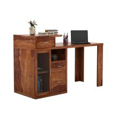 Sarah Study Desk With Storage (Teak Finish)