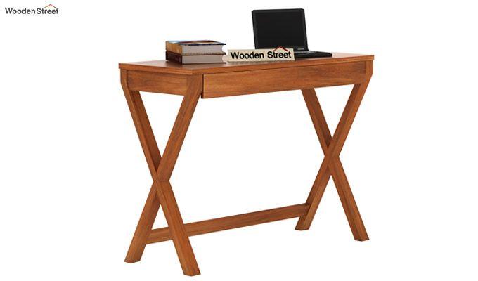 Sinclair Study Table (Honey Finish)-1