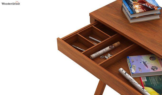 Sinclair Study Table (Honey Finish)-4
