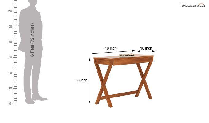 Sinclair Study Table (Honey Finish)-6