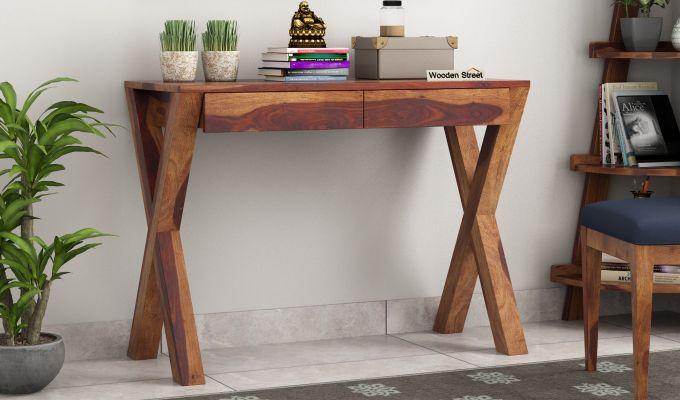 Sinclair Study Table (Teak Finish)-1