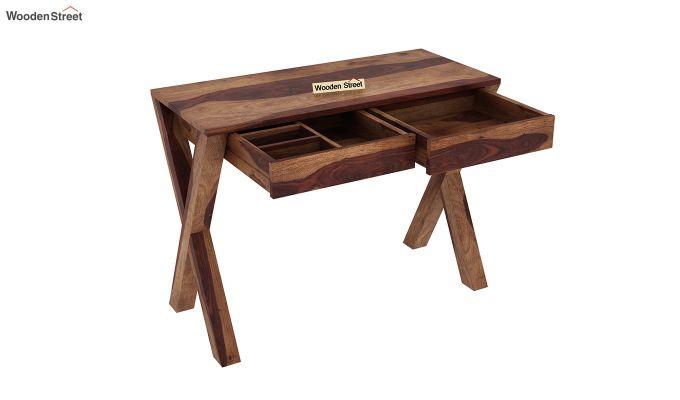 Sinclair Study Table (Teak Finish)-4