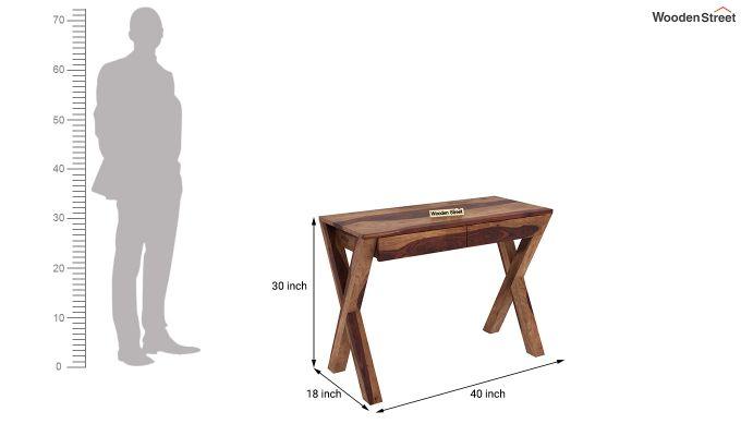 Sinclair Study Table (Teak Finish)-5