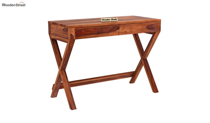 Sinclair Study Table (Honey Finish)-2