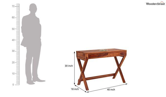 Sinclair Study Table (Honey Finish)-5