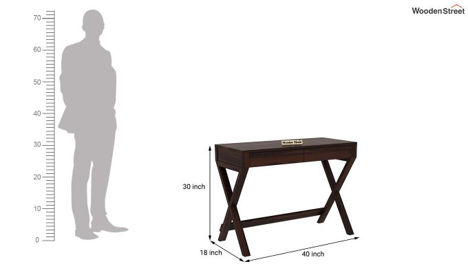 Sinclair Study Table (Walnut Finish)-5