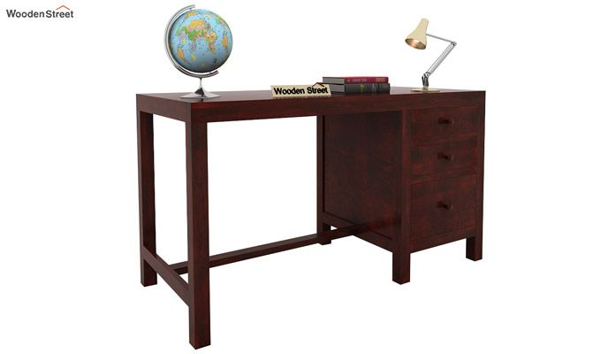 Slater Study Table With Drawer (Mahogany Finish)-1
