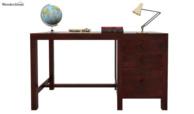 Slater Study Table With Drawer (Mahogany Finish)-2