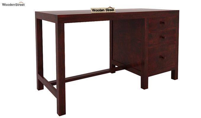 Slater Study Table With Drawer (Mahogany Finish)-3