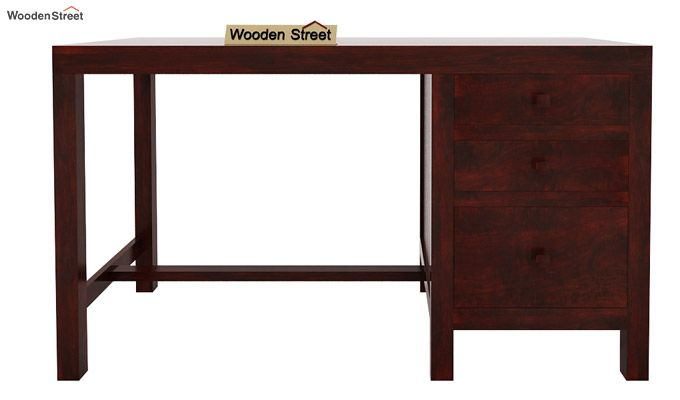 Slater Study Table With Drawer (Mahogany Finish)-4