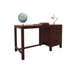 Slater Study Table With Drawer (Mahogany Finish)