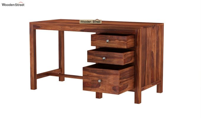 Slater Study Table With Drawer (Honey Finish)-4