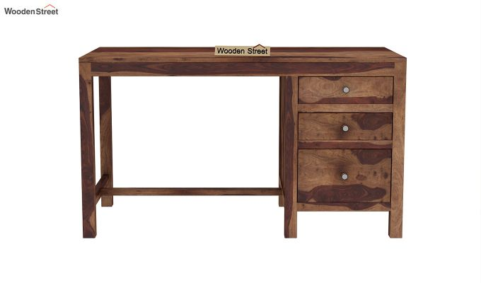 Slater Study Table With Drawer (Teak Finish)-3