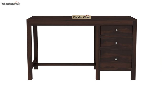 Slater Study Table With Drawer (Walnut Finish)-3