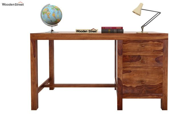 Slater Study Table With Drawer (Teak Finish)-2