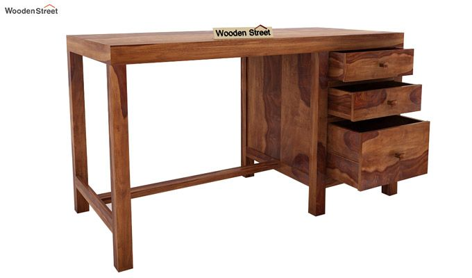 Slater Study Table With Drawer (Teak Finish)-4