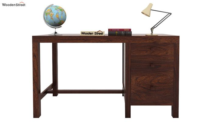 Slater Study Table With Drawer (Walnut Finish)-2
