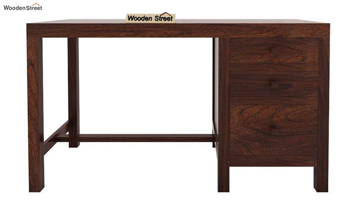 Slater Study Table With Drawer (Walnut Finish)-4