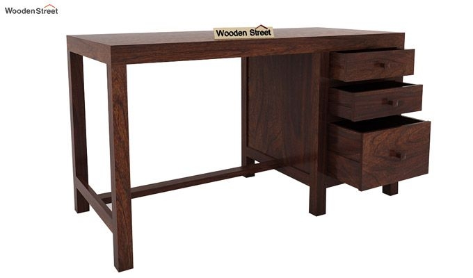 Slater Study Table With Drawer (Walnut Finish)-5