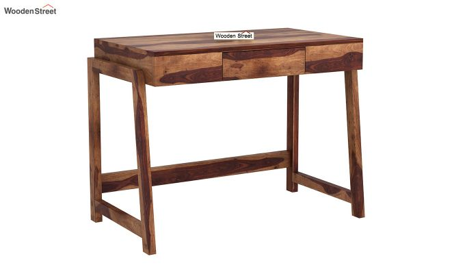 Stamper Wooden Desk (Teak Finish)-2