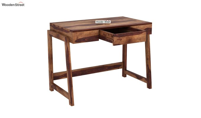 Stamper Wooden Desk (Teak Finish)-4