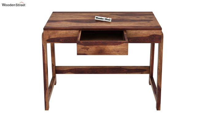 Stamper Wooden Desk (Teak Finish)-5