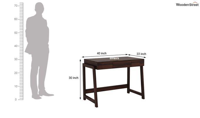 Stamper Wooden Desk (Walnut Finish)-6