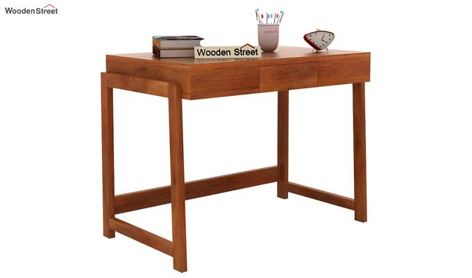 Stamper Wooden Desk (Honey Finish)-1