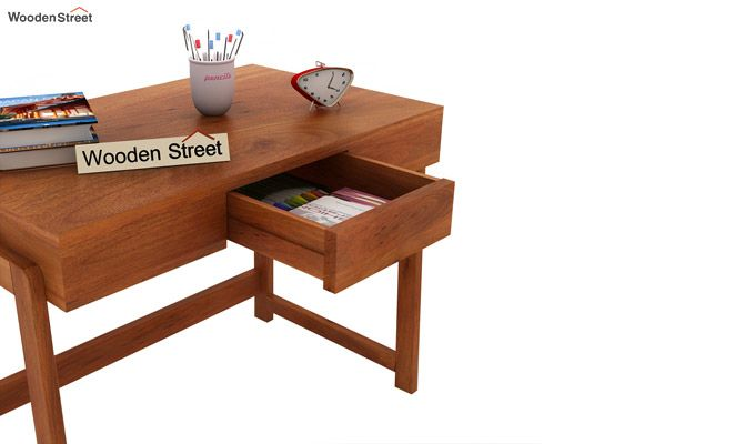 Stamper Wooden Desk (Honey Finish)-4