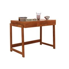 Stamper Wooden Desk (Honey Finish)