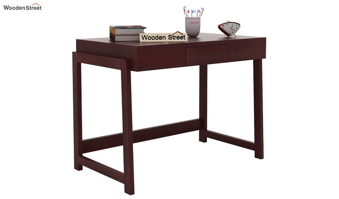 Stamper Wooden Desk (Mahogany Finish)-2